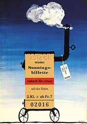 Gfeller Rolf - SBB - Sonntagsbillette