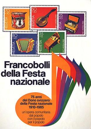 Anonym - Francobolli della Festa nazionale