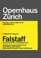 Müller-Brockmann Atelier - Falstaff - Opernhaus Zürich