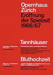 Müller-Brockmann Atelier - Eröffnung der Spielzeit - Opernhaus Zürich