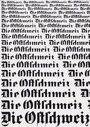 Geisser Robert - Die Ostschweiz