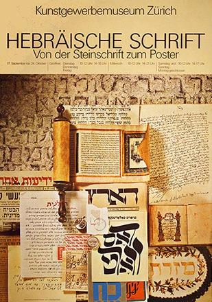 Blumenstein + Plancherel - Hebräische Schrift