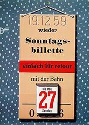 Birkhäuser Peter - SBB - Sonntagsbillette