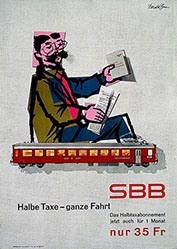 Brun Donald - SBB - Halbe Taxe-ganze Fahrt