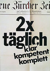 Burckhardt / Süess - Neue Zürcher Zeitung