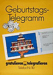 Anonym - Geburtstags-Telegramm
