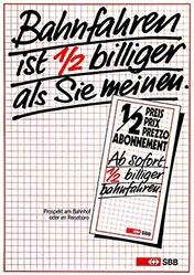 Thommen Hannes - SBB - Halbtaxabonnement