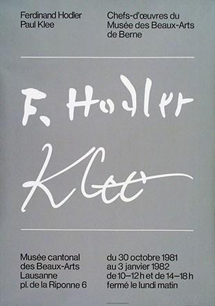 Wyss Marcel - Ferdinand Hodler / Paul Klee