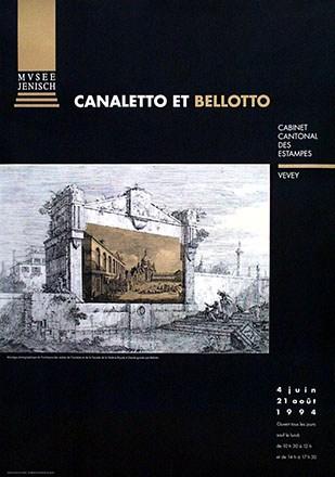 Anonym - Canaletto et Bellotto