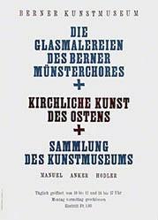 Pochon-Jent Fritz - Die Glasmalereien des Berner Münsterchors