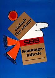 Scapa Ted - SBB - Sonntagsbillette