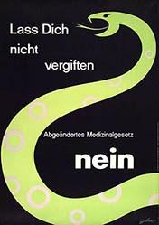 Weber - Medizinalgesetz Nein