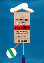 Brun Donald - SBB - Sonntagsbillette