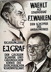 Monogramm G.R. - F.T. Wahlen