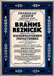 Monogramm H. - Brahms Reznicek