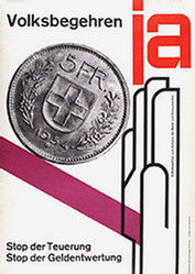 Honegger-Lavater Gottfried - Volksbegehren - Stop der Teuerung