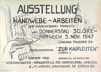 Anonym - Ausstellung Handwebe-Arbeiten