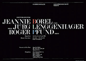 Pfund Roger - Jeannie Borel / Jürg Lenggenhager / Roger Pfund