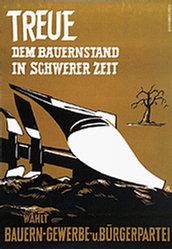 Monogramm Pa - Bauern-,Gewerbe- und Bürgerpartei (BGB)