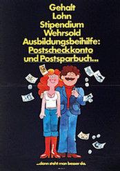Anonym - Postscheckkonto u. Postsparbuch