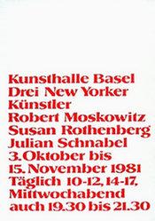 Anonym - Robert Moskowitz / Susan Rothenberg /