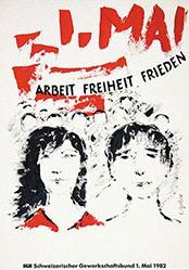 Greber E. - 1. Mai - Arbeit Freiheit Frieden