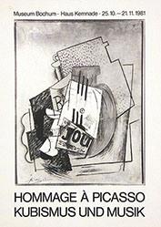 Anonym - Hommage à Picasso Kubismus und Musik