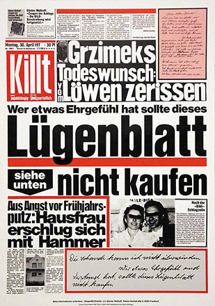 Staeck Klaus - Lügenblatt