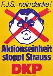 Anonym - Aktionseinheit stoppt Strauss - DKP