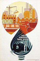 Kamradziuss G. - Russisches Propagandaplakat