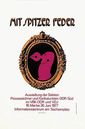 Lothar Otto/Schulze Joachim - Mit spitzer Feder - Karikaturisten der DDR
