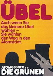 Grafik Werkstatt Bielefeld - Übel - Die Grünen