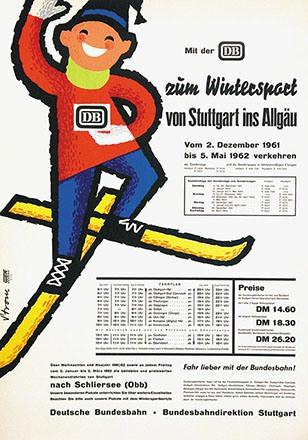 Strom - Deutsche Bundesbahn - Wintersport