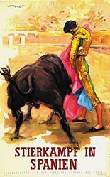 Monogramm R.J. - Stierkampf in Spanien