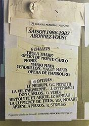 Anonym - Saison 1986-1987 abonnez-vous!
