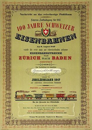 Anonym - 100 Jahre Schweizer Eisenbahnen