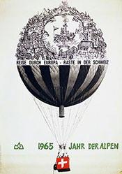 Küchler Hans - Reise durch Europa - Raste in der Schweiz