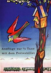Monnerat Pierre - SBB - Ferienbillete