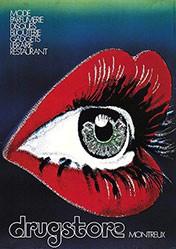 Brüsch B. (Francfort Publicité) - Drugstore Montreux