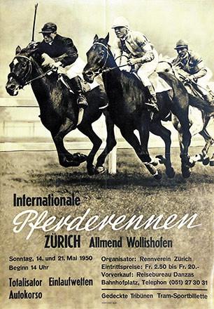 Anonym - Internationale Pferderennen Zürich