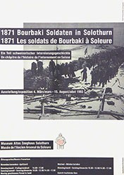 Museum Altes Zeughaus - 1871 Bourbaki Soldaten in Solothrun