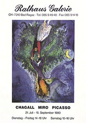 Anonym - Marc Chagall - Joan Miró - Pablo Picasso