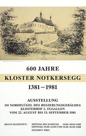 Anonym - 600 Jahre Kloster Notkersegg