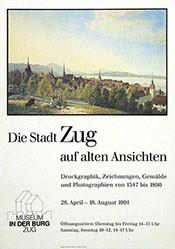 Anonym - Die Stadt Zug auf alten Ansichten
