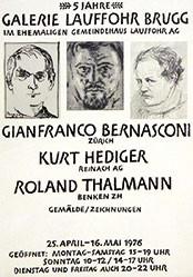 Anonym - Gian Franco Bernasconi, Kurt Hediger,   Roland Tha