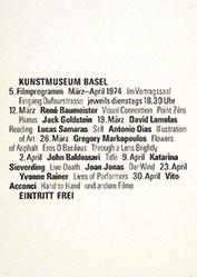 Anonym - Kunstmuseum Basel 5. Filmprogramm