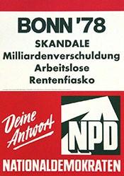 Anonym - Bonn 78 Skandale - NPD