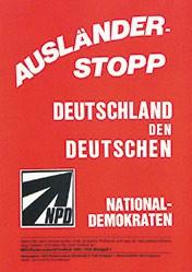 Anonym - Ausländer-Stop - NPD