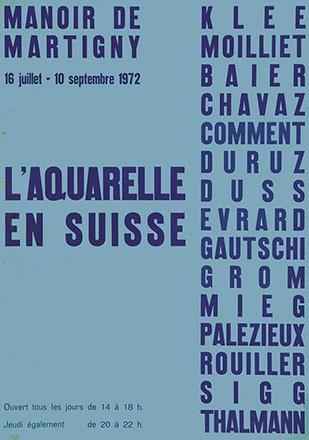 Anonym - L'Aquarelle en Suisse - Manoir
