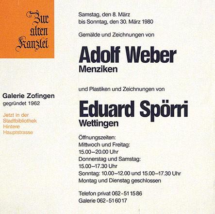 Anonym - Adolf Weber / Eberhard Spörri